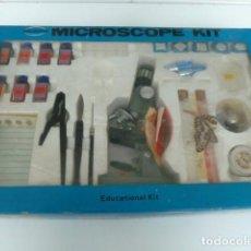 Juegos educativos: MICROSCOPE KIT/ ANTIGUO MICROSCOPIO KIT EN SU CAJA ORIGINAL AÑOS 60 LEER DESCRIPCION. Lote 78661097
