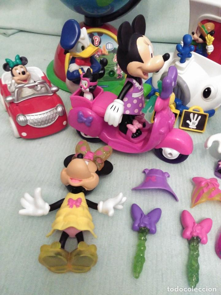 Juegos educativos: Lote de muñeco MICKEY MOUSE con globo terraqueo y un monton de piezas. - Foto 2 - 79125953