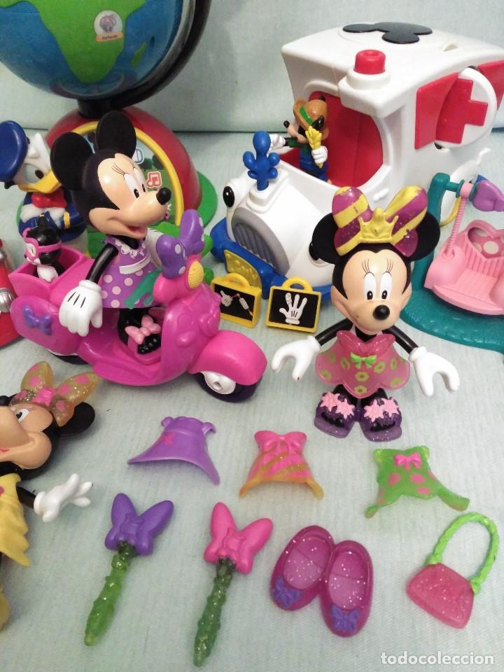 Juegos educativos: Lote de muñeco MICKEY MOUSE con globo terraqueo y un monton de piezas. - Foto 3 - 79125953