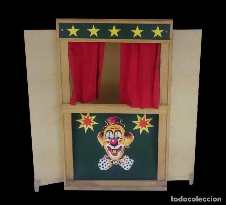 ANTIGUO TEATRILLO DE TÍTERES (Juguetes - Juegos - Educativos)