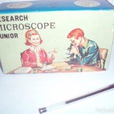 Juegos educativos: RESEARCH MICROSCOPE JUNIOR PEQUEÑO MICROSCOPIO. Lote 81659464