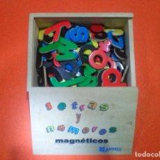Juegos educativos: JUEGO EDUCATIVO____LETRAS Y NUMEROS,,EN CAJA DE MADERA *ORIGINAL AÑOS 80*. Lote 83857616
