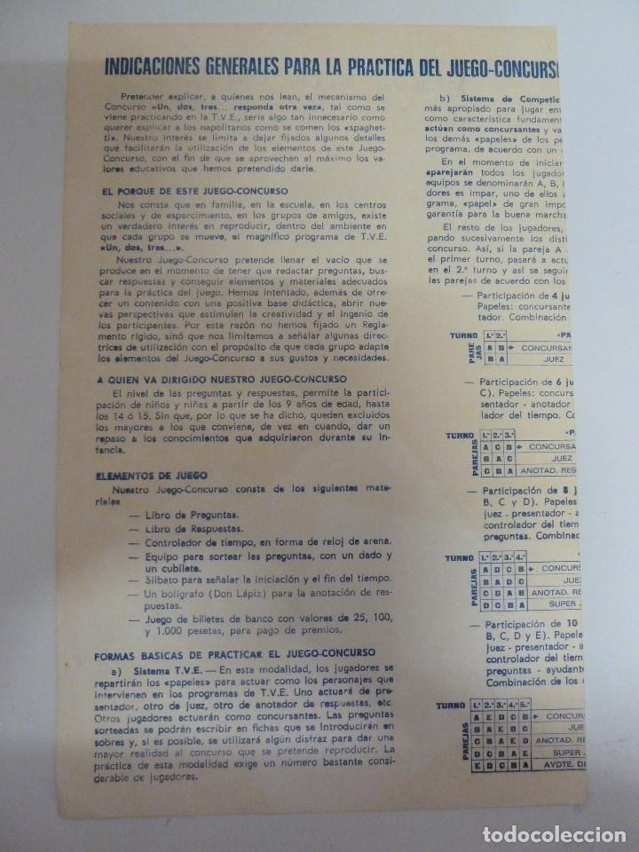 Juegos educativos: CONCURSO UN DOS TRES RESPONDA OTRA VEZ DE DALMAU - Foto 3 - 84986496