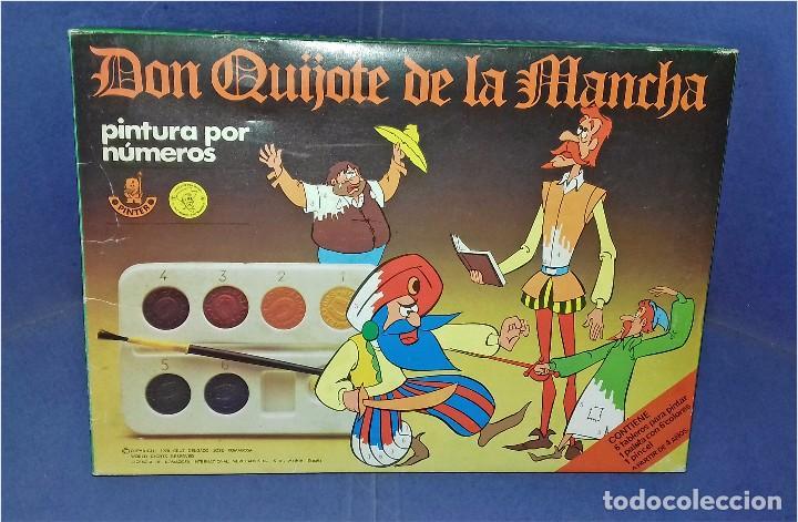 PINTA POR NÚMEROS - DON QUIJOTE DE LA MANCHA - POCH - 1979 - COMPLETAMENTE NUEVO (Juguetes - Juegos - Educativos)