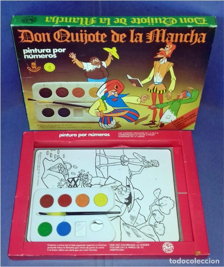 Juegos educativos: PINTA POR NÚMEROS - DON QUIJOTE DE LA MANCHA - POCH - 1979 - COMPLETAMENTE NUEVO - Foto 2 - 85883720
