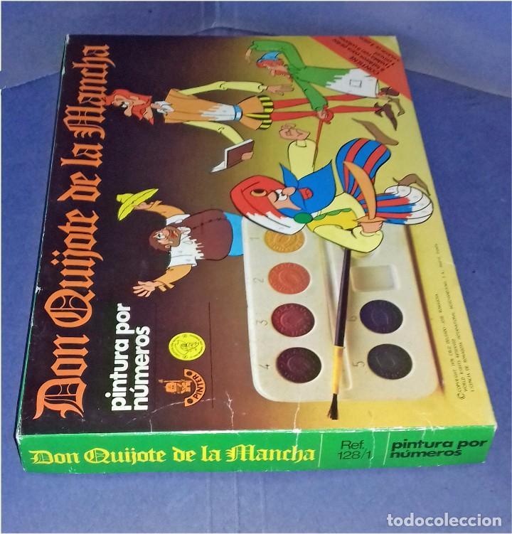 Juegos educativos: PINTA POR NÚMEROS - DON QUIJOTE DE LA MANCHA - POCH - 1979 - COMPLETAMENTE NUEVO - Foto 7 - 85883720