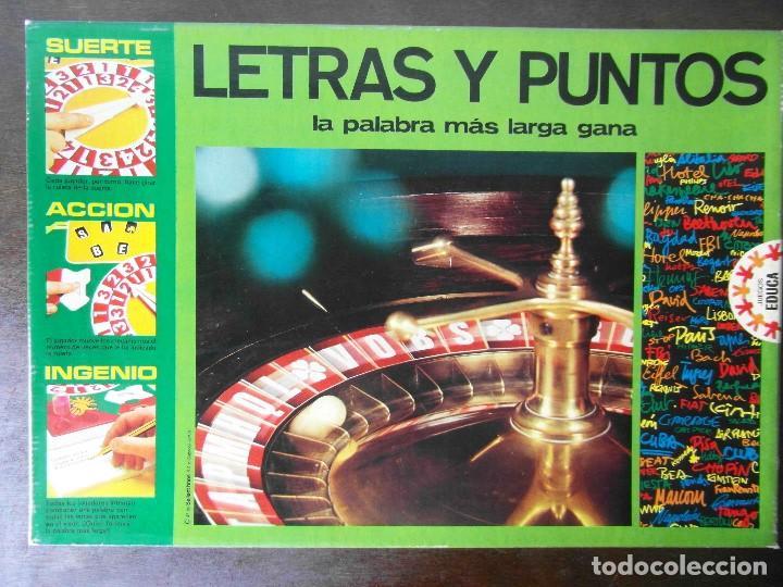 JUEGO LETRAS Y PUNTOS. JUEGOS EDUCA. REFERENCIA 4750 (Juguetes - Juegos - Educativos)
