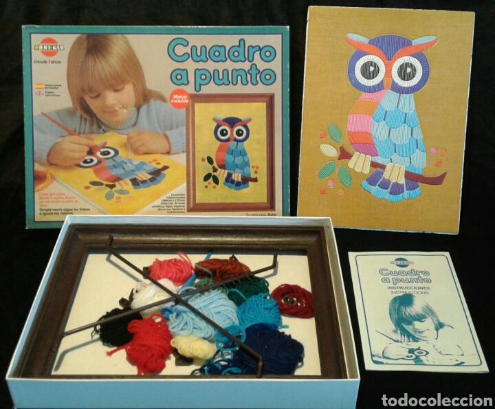 CUADRO A PUNTO BÚHO DE BREKAR (AÑOS 80) (Juguetes - Juegos - Educativos)
