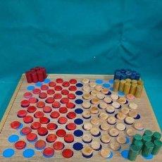 Juegos educativos: ANTIGUO JUEGO DE MESA DE MADERA, TIPO DAMAS CHINAS. Lote 89216492
