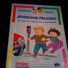 Juegos educativos: JUEGO DE MESA, EDUCATIVO, ATENCION PELIGRO, PRESCHOOL, FALOMIR,1992. Lote 89357060
