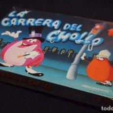 Juegos educativos: JUEGO DE MESA, LA CARRERA DEL CHOLLO, UN DOS TRES, DALMAU CARLES PLA, 1984, INCOMPLETO. Lote 89358148