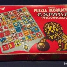 Juegos educativos: MACRO PUZZLE GEOGRAFICO ESPAÑA PROVINCIAS, DALMAU CARLES. AÑOS 70. Lote 90401408