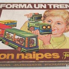 Juegos educativos: JUEGO FORMA UN TREN CON NAIPES - FOURNIER - SPAIN - AÑO 76. Lote 96024191