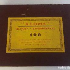 Juegos educativos: ANTIGUO PRIMER JUEGO DE QUIMICA EXPERIMENTAL ATOMS 100 AÑOS 50 MUY DIFICIL ORIGINAL . Lote 97333663