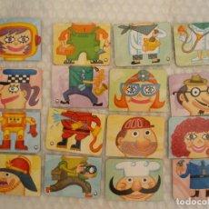 Juegos educativos: IMANES FLEXIBLES PARTIDOS PARA VARIAR LAS FORMAS PROFESIONES. Lote 97800415