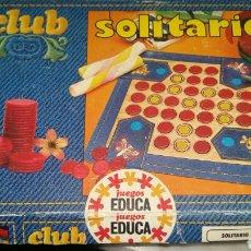 Juegos educativos: CLUB SOLITARIO. Lote 98666607