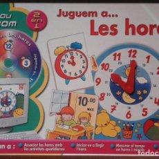 Juegos educativos: EDUCA - JUGUEM A LES HORES - DE 5 A 6 AÑOS - INCLUYE CDROM - JUGAMOS A LAS HORAS. Lote 98677603