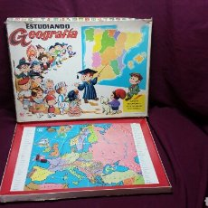 Juegos educativos: ESTUDIANDO GEOGRAFIA MAPA DE EUROPA JUGUETE 1004. Lote 99714896