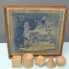 Juegos educativos: CAJA CUERPOS GEOMÉTRICOS, MATERIAL ESCOLAR DE LA EDITORIAL HERNANDO , MADRID 1915. Lote 103723323