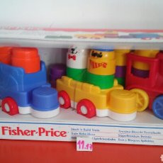 Juegos educativos: TREN BLOQUE APILABLES.FISHER PRICE 1998.NUEVO EN CAJA.. Lote 103747290