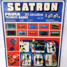 Juegos educativos: SCATRON PRIMA TÉCNICO RADIO 20 CIRCUITOS VINTAGE REFERENCIA 231 SCALA AÑOS 70 . Lote 103865495