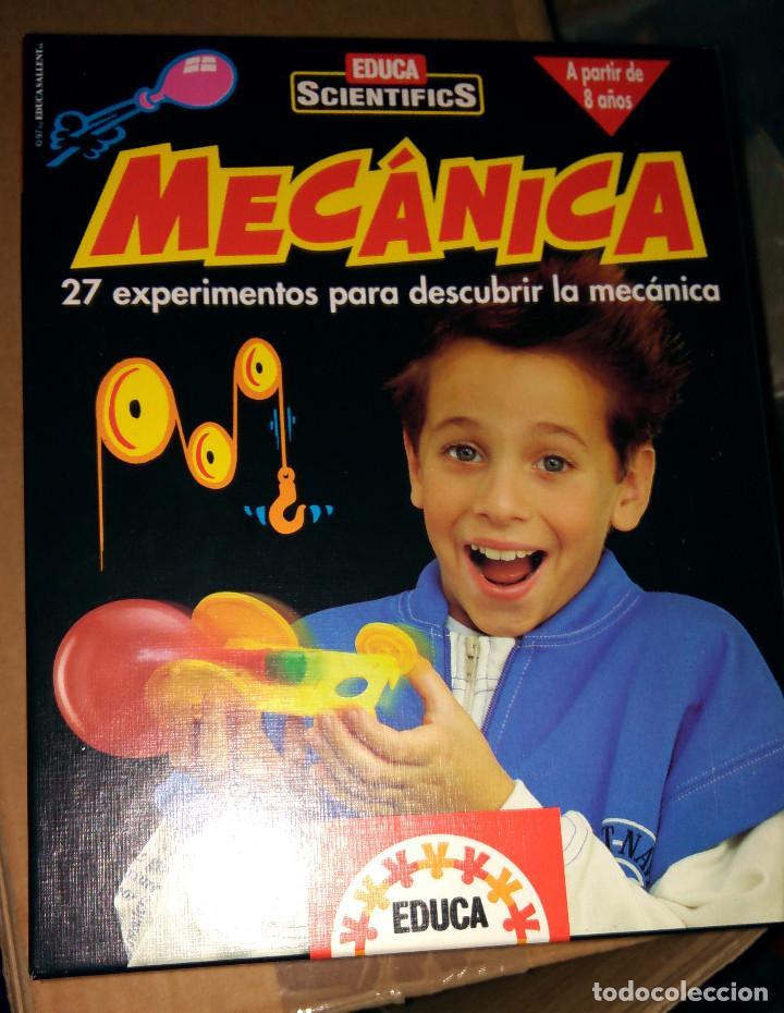 EDUCA SCIENTIFICS MECÁNICA 27 EXPERIMENTOS CON CAJA Y MANUAL COMO NUEVOS PARECE COMPLETO (Juguetes - Juegos - Educativos)
