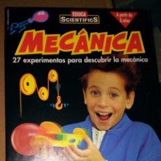 Juegos educativos: EDUCA SCIENTIFICS MECÁNICA 27 EXPERIMENTOS CON CAJA Y MANUAL COMO NUEVOS PARECE COMPLETO. Lote 104563003