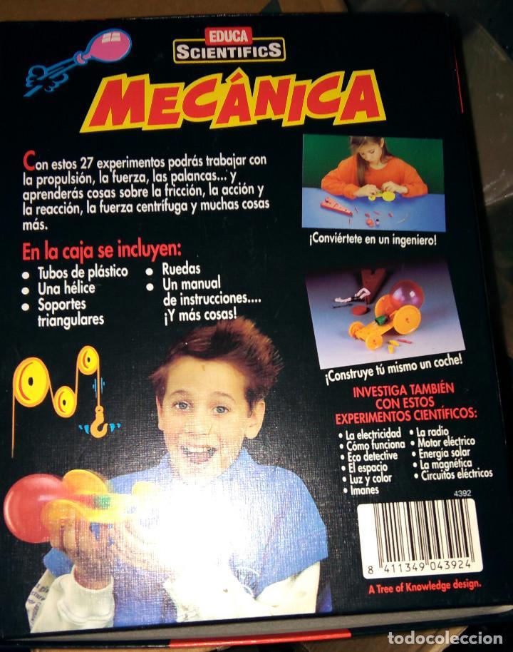Juegos educativos: Educa Scientifics Mecánica 27 experimentos con caja y manual como nuevos parece completo - Foto 4 - 104563003