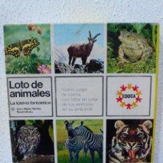 Juegos educativos: JUEGO LOTO DE ANIMALES. Lote 105602767