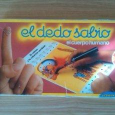 Juegos educativos: EL DEDO SABIO EL CUERPO HUMANO. Lote 105963663
