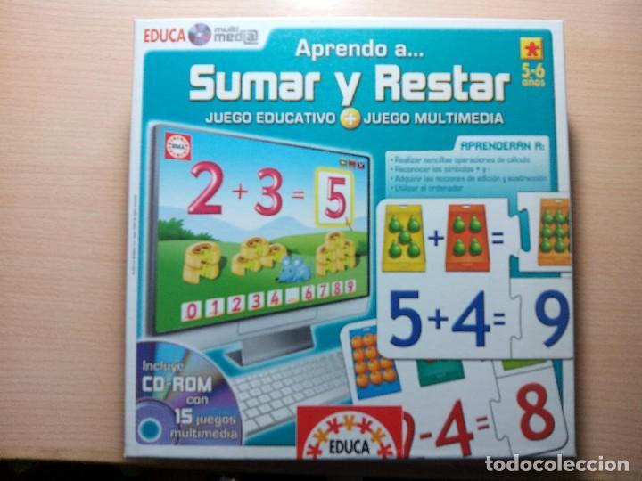 Aprendo A Sumar Y Restar Para 5 6 Anos Educa Comprar Juegos