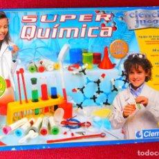 Juegos educativos: JUEGO DE QUIMICA NIÑOS +10 AÑOS - SUPER QUIMICA - CLEMENTONI. Lote 110450983