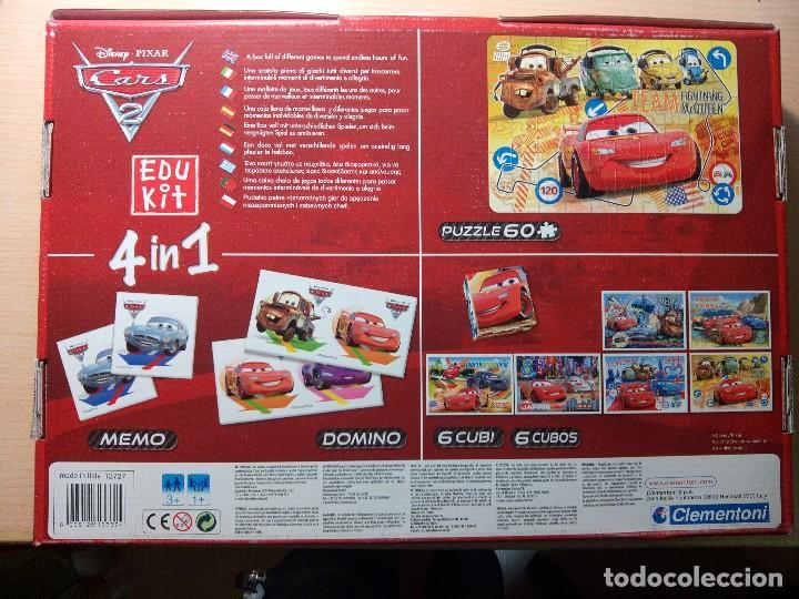 Juegos educativos: Cars 2. 4 en 1. Edu Kit. Clementoni. - Foto 3 - 111790647
