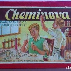 Juegos educativos: CHEMINOVA Nº 2 CAJA DE ENSAYOS QUIMICOS Nº 1A, JUGUETE AÑOS 50, MEDIDAS 27 X 18 CM. Lote 112075699