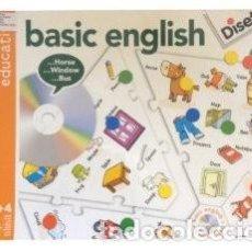 Juegos educativos: JUEGO DE MESA EDUCATIVO TIPO PUZZLE PARA APRENDER O PRACTICAR INGLES DISET BASIC ENGLISH. Lote 112235539