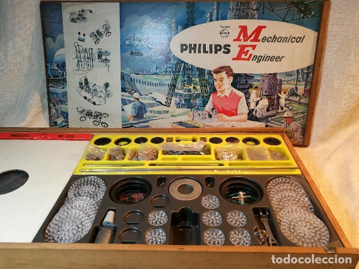 JUEGO CONSTRUCCION PHILIPS MECHANICAL ENGINEER ME1200 – AÑOS 60' (Juguetes - Juegos - Educativos)