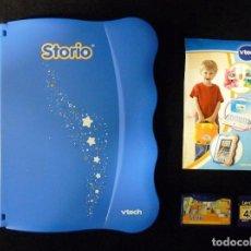 Juegos educativos: STORIO DE VTECH. TABLET EDUCATIVO MULTIMEDIA PARA NIÑOS + JUEGO + MEMORIA 4 GB. PRÁCTICAMENTE NUEVA. Lote 112384211