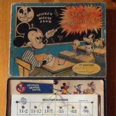 Juegos educativos: MAGIC MULTIPLIER, MICKEY MOUSE CLUB, JUEGO AMERICANO AÑOS 40 ORIGINAL CON LAS TABLAS DE MULTIPLICAR. Lote 112424703