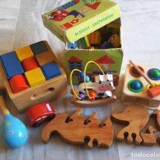 Juegos educativos: LOTE JUEGOS VARIOS PUZZLES Y OTROS EN MADERA. Lote 112589111
