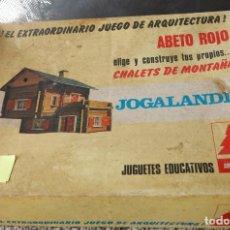 Juegos educativos: JUGUETE DE CONSTRUCCION ABETO ROJO. SERIE CHALETS DE MONTAÑA. Lote 112732047