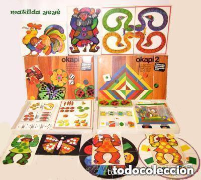 Juegos educativos: Dos Antiguos Juegos Educativos Okapi 1 y Okapi 2 1976 - 1977 Juegos para niños de preescolar - Foto 3 - 112855183