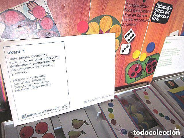 Juegos educativos: Dos Antiguos Juegos Educativos Okapi 1 y Okapi 2 1976 - 1977 Juegos para niños de preescolar - Foto 4 - 112855183