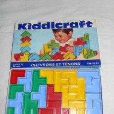 Juegos educativos: KIDDICRAFT CONSTRUCCIÓN MULTICOLOR AÑOS 60 COMPLETO. Lote 113416023