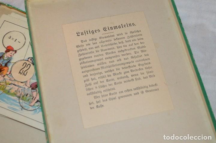 Juegos educativos: ANTIGUO Y VINTAGE - años 30 / 40 - JUEGO DE MESA - LUSTIGES EINMALEINS - MADE IN GERMANY - HAZ OFERT - Foto 9 - 119229631