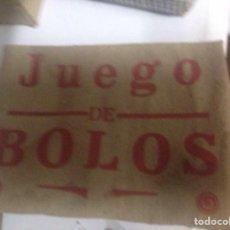 Juegos educativos: JUEGO DE BOLOS 1928 EN CAJA ORIGINAL. Lote 58357676