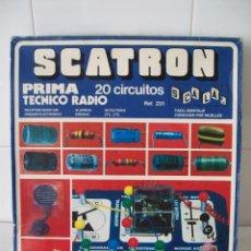 Juegos educativos: SCATRON PRIMA - TÉCNICO RADIO - 20 CIRCUITOS. Lote 123043391