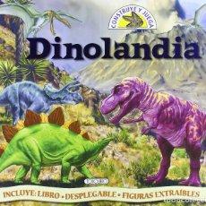 Juegos educativos: 'DINOLANDIA - CONSTRUYE Y JUEGA'. DINOSAURIOS. CAJA CON LIBRO, DIORAMA Y FIGURAS. BUEN ESTADO.. Lote 123123351