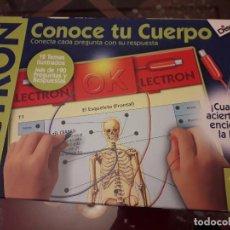 Juegos educativos: 05-00058 JUEGO ELECTRON CONOCE TU CUERPO. Lote 123687455