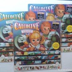 Juegos educativos: CALCOCINE ( COLECCION COMPLETA ) 3 CALCOMANIAS NUBIOLA ( 34 X 33 ) BRUGUERA / PRECINTADO / CINE. Lote 146047501