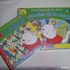 Juegos educativos: ANIMALES DE LA SELVA Y NOMBRES PEQUEAPRENDE DE MICHI ARTICULO NUEVO. Lote 126048107